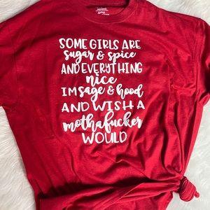 Sage & hood & wish a .... would Shirt